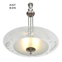 MidCentury Modern Vintage Chandelier Lens Bowl Ceiling