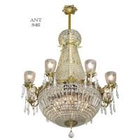 Vintage Crystal Chandelier Large Ballroom Prism Ceiling