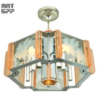 Mid Century Modern Semi Flush Mount Ceiling Light Fixture