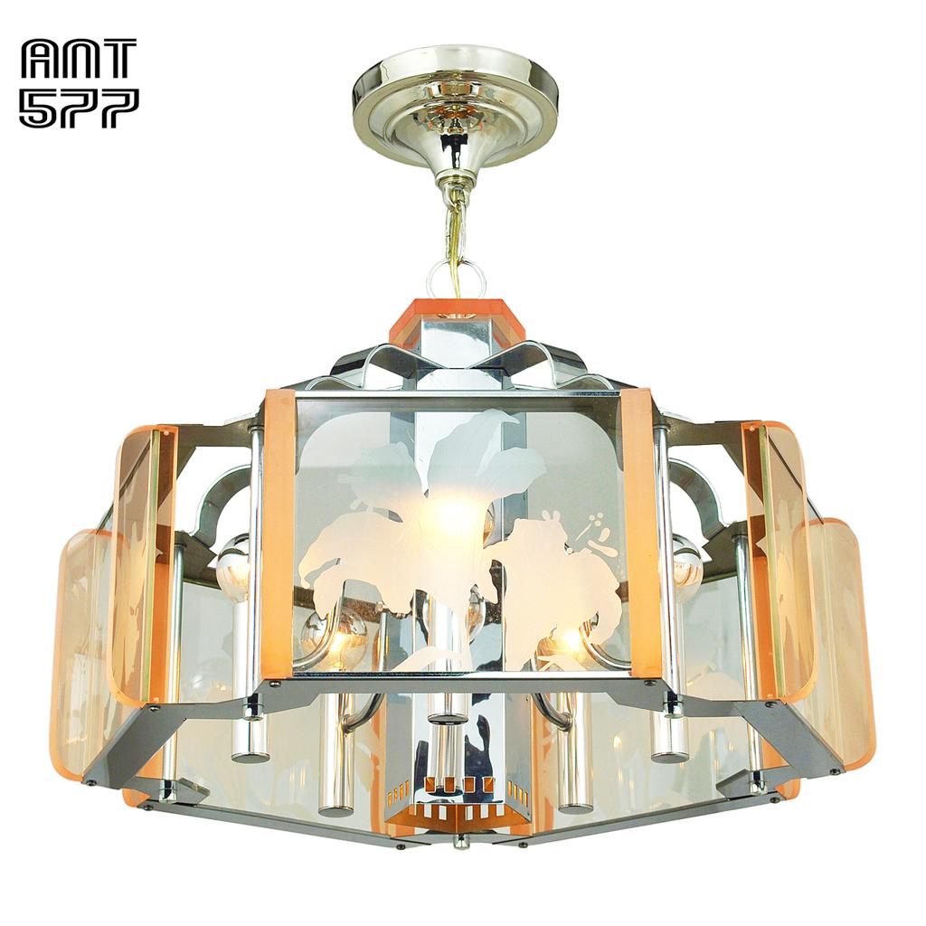 Mid Century Modern Semi Flush Mount Ceiling Light Fixture