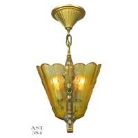 Art Deco Slip Shade Pendant Light Fixture by Frankelite ...