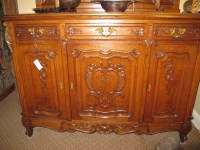 Antique French Buffet with Etched/Beveled Glass Cabinet ...