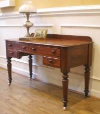 Antique Victorian English Mahogany Desk, Sofa Table ...