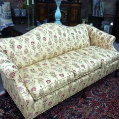 Vintage Camel Back Sofa Lit Usager Gorgeous Antique With Carved Ball