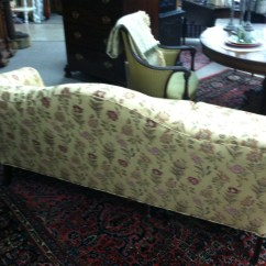Vintage Camel Back Sofa Oversized Outdoor Covers Gorgeous Antique With Carved Ball