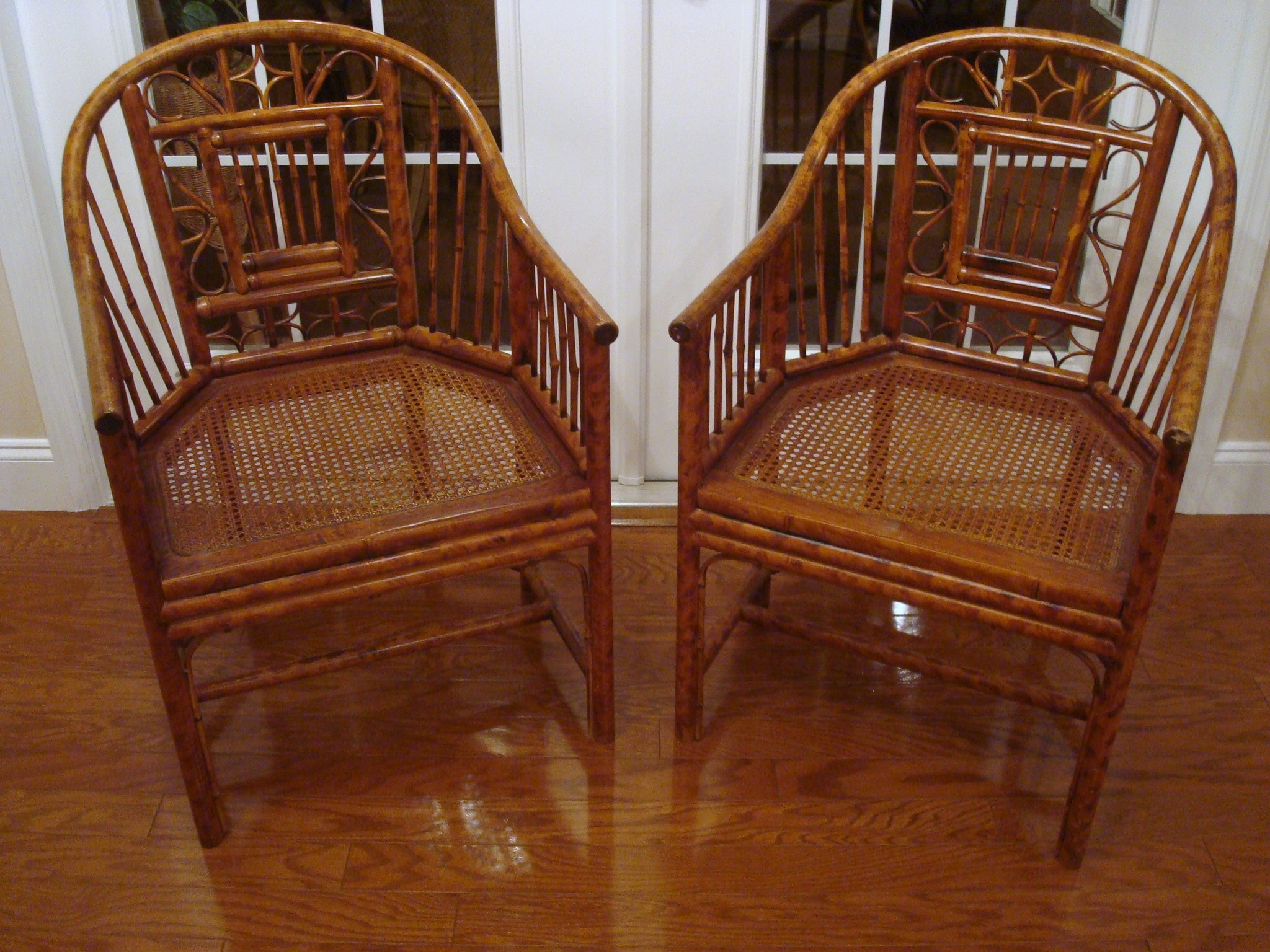 bamboo chairs for sale chair covers on folding pair of bent antiques