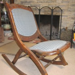 Antique Folding Rocking Chair Value Bedroom French Fold Up Wooden Sewing For Sale Antiques