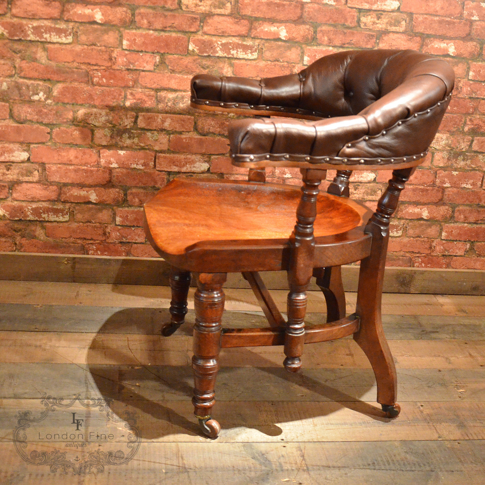 big chairs for sale table chair rental antique library mahogany brown leather hoop back