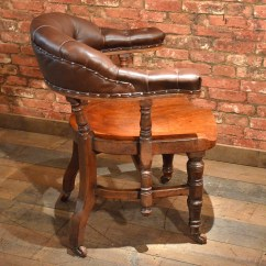 Big Chairs For Sale Aaron Chair Pottery Barn Antique Library Mahogany Brown Leather Hoop Back