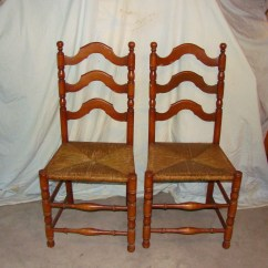 Antique Ladder Back Chairs Value Ebay Poang Chair Covers European Set Of 4 For Sale