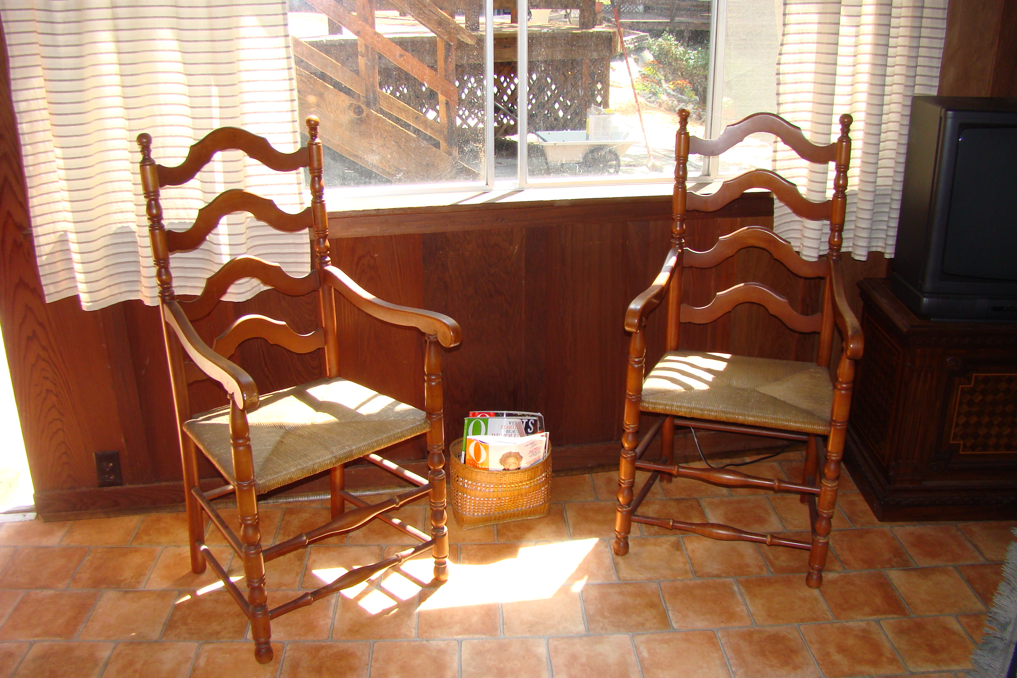 antique ladder back chairs value office chair penang european set of 4 for sale