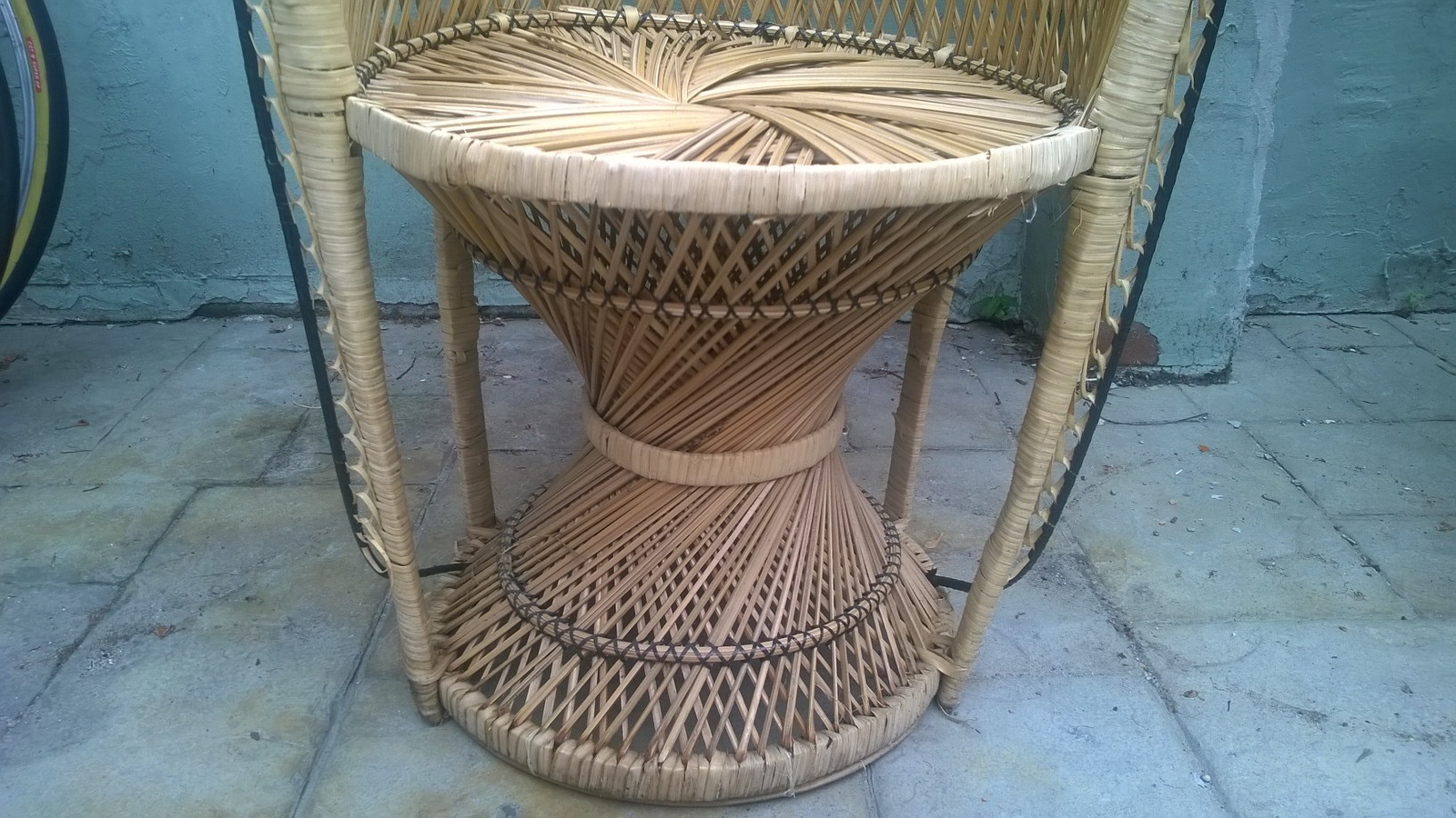 vintage peacock chair serena dining wicker for sale antiques classifieds