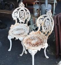 Antique Ornate Cast Iron Three Piece Set