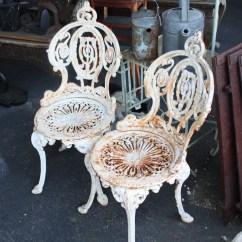 Iron Chair Price Plastic Stool Design Super Ornate Cast Garden Set For Sale Antiques Com Classifieds