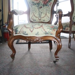 Victorian Parlor Chairs Office For Large Person Exceptionally Upholstered Pair Of
