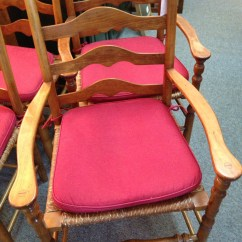 Antique Ladder Back Chairs With Rush Seats Barrel Chair Cushions Stickley Seat For Sale Antiques