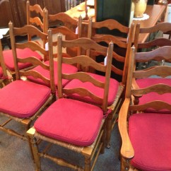 Antique Ladder Back Chairs Value Cb2 Club Chair Stickley Rush Seat For Sale Antiques