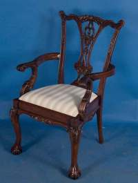 Ball-and-Claw Foot Solid Mahogany Dining Chair For Sale ...