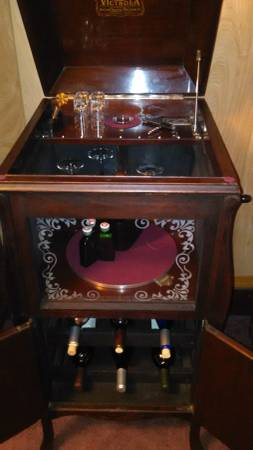 Wine CabinetVictrola Repurposed For Sale  Antiquescom