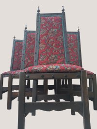 SET OF 6 Antiques Royal High back chairs CASTLE/KING STYLE ...