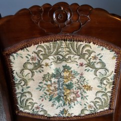 Antique Folding Rocking Chair Covers Wedding Hire Uk Sewing W Victorian Tapestry