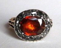 Georgian Spessartite Garnet & Diamond Ring For Sale ...