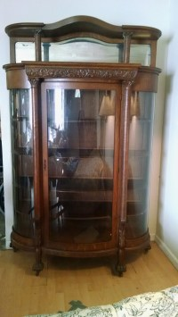 Glass china hutch, display case For Sale | Antiques.com ...