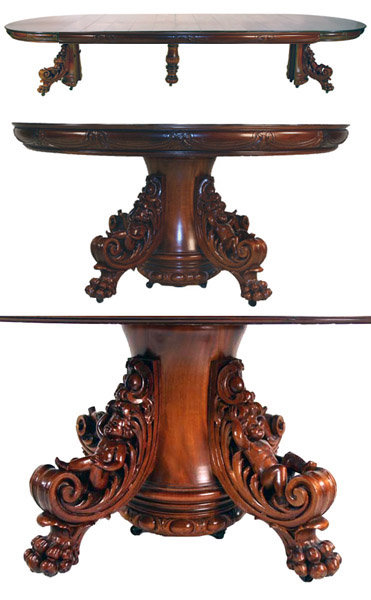Spectacular Renaissance Revival Dining Set By RJ Horner For Sale Classifieds