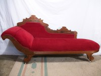 ANTIQUE 1800S ELEGANT EASTLAKE FAINTING COUCH CHAISE ...