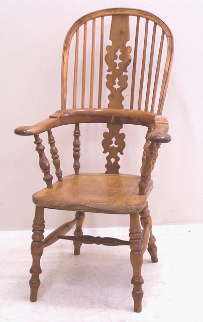 Antique English Yew wood arm chair c1790  Item  5053 For