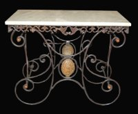 French Wrought Iron Pastry Table For Sale