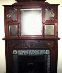 Victorian fireplace mantel mantelpiece, oak, antique For ...