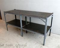 VINTAGE INDUSTRIAL STEEL WORK TABLE /KITCHEN. L@@k!!! For