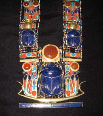 Scarab Pectoral Necklace Of Tutankhamun Fj 0002a For