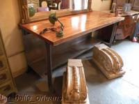 INDUSTRIAL VINTAGE BUTCHER BLOCK TABLE/KITCHEN ISLAND For