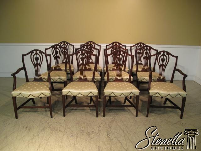 14771 Set 12 KITTINGER Hist Newport Dining Room Chairs