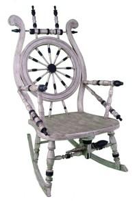 Spinning Wheel Rocking Chair American Nautical Chair ...