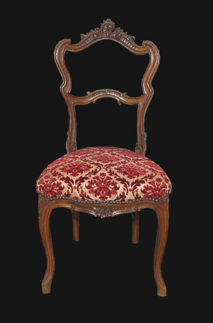 French Upholstered Vanity Chair For Sale