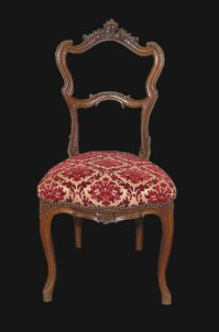 French Upholstered Vanity Chair For Sale | Antiques.com ...