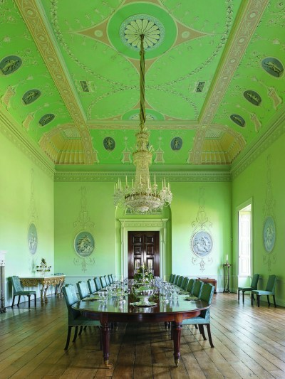The Eighteenth Century paint scheme of this room at Crichel House in Dorset, England was restored with Jayne Design Studio's advice. Photo Paul Highnam, courtesy Country Life.