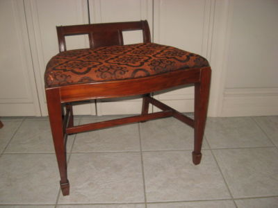 antique vanity chair beach sale waterfall wood bench stool price