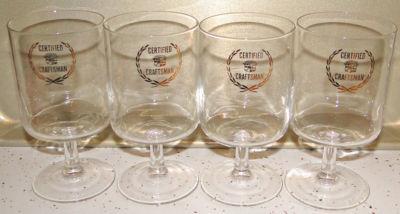 4 Glass Cadillac Certified Craftsman Service Award Drink ...