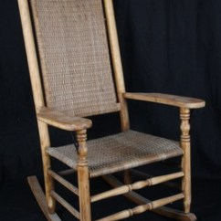 Woven Rocking Chair Waiting Room Chairs With Arms L1 Antique American Mottville Style Splint Seat And Back