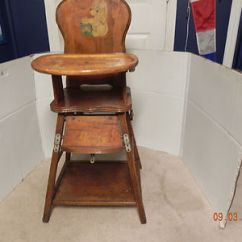 High Chair Converts To Table And Stylist Chairs Wholesale Antique Folding Wood With Bear