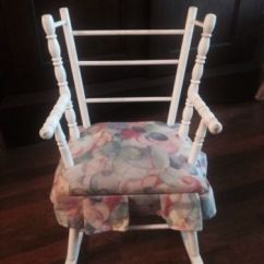Alabama Rocking Chair Stackable Mesh Patio Chairs Vtg Childs Doll Wood Rocker Made By N D Cass Co