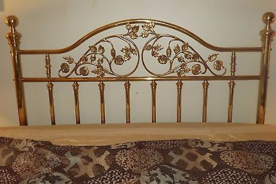 vintage brass bed headboard carved