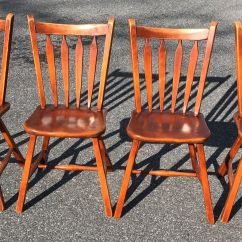 Antique Tiger Oak Dining Room Chairs Used Table And For Restaurant Use Furniture -- Price Guide