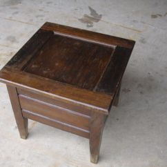 Antique Commode Chair Clear Dining Chairs Nz Vintage Wood Chamber Pot Box Toilet Seat