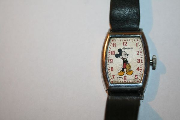 Vintage Ingersoll Mickey Mouse Watch Used Parts