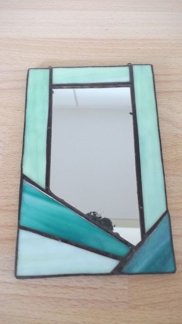 Small Art Deco Mirror. - Antique Guide Details Page